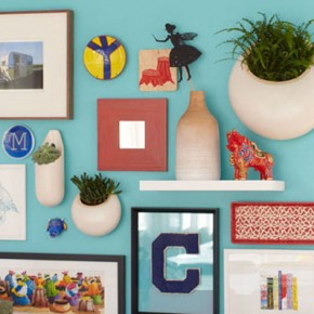 fun and colorful wall picture arrangement lowes.com
