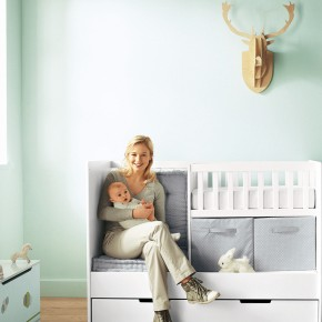 11 Fantastic Baby Nursery Design Ideas by Vertbaudet Bright Blue Wall