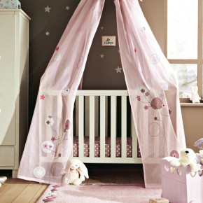 11 Fantastic Baby Nursery Design Ideas by Vertbaudet Purple Curtain