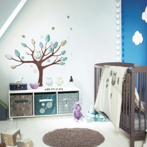 11 Fantastic Baby Nursery Design Ideas by Vertbaudet White Blue Wall Decor
