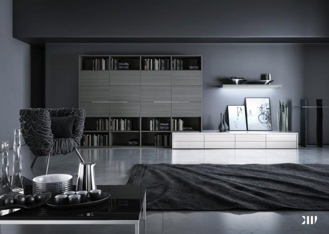 12 black and white grey living room 665 474 black white for Grey black and white living room