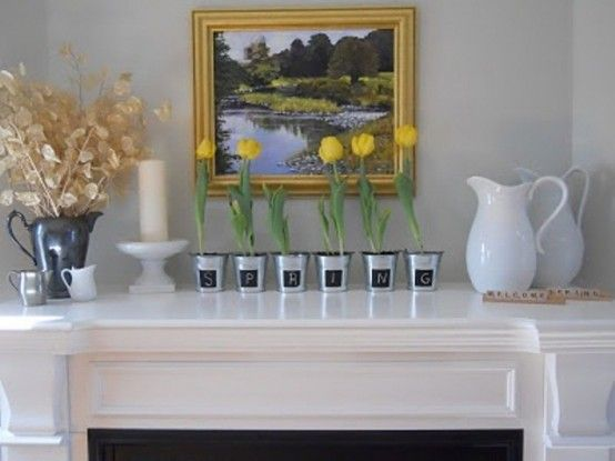 20 Spring Mantel Ideas