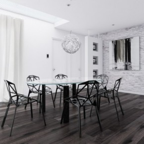 13 Black And White Dining Room 665x441  Black & White Interiors  Picture  3