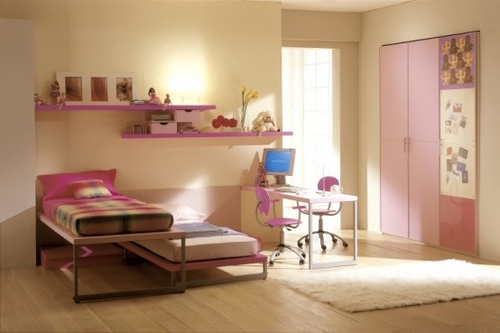 15 cool ideas for pink girls bedrooms 10 interior design for Bedroom designs for girls
