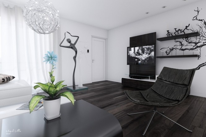 15 black and white living room 665 442 black white Black and white living room wallpaper