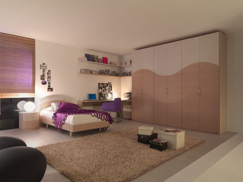 Teen Room Ideas : Clean Color Combination 2violet Teen Room Ideas ...