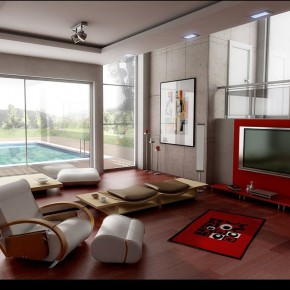 4 Living Room By Ertugy  10 Rooms That Are Designed Around Televisions  Pict  6