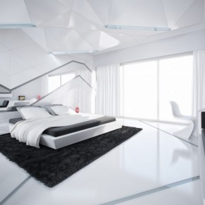 5 Black And White Modern Bedroom 665x468  Black & White Interiors  Pict  10