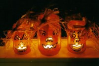 50 Awesome Halloween Decorating Ideas Pumpkins Light Orange