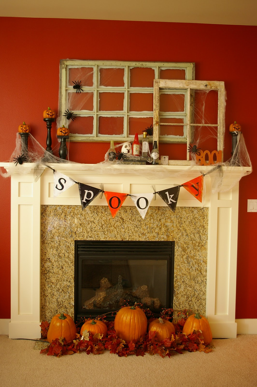 50 Awesome Halloween Decorating Ideas Orange Wall Flag