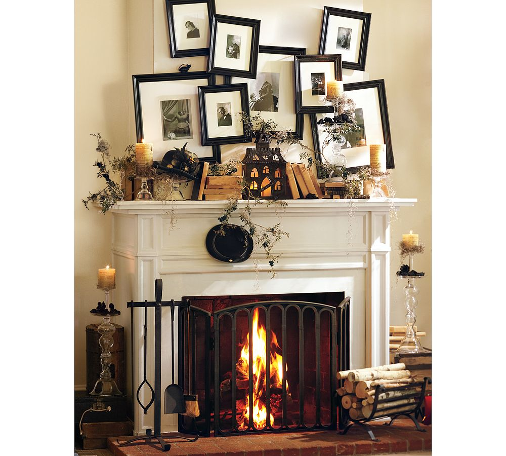 50 awesome halloween decorating ideas photo frame 50 awesome fireplace