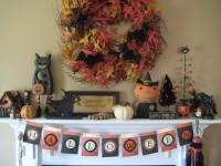 50 Awesome Halloween Decorating Ideas Fireplace Cute Pumpkins