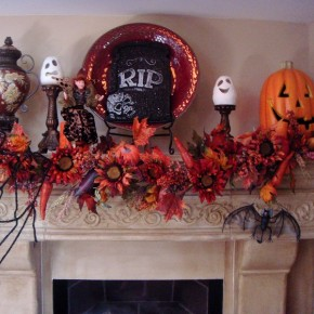 50 Awesome Halloween Decorating Ideas Fireplace Flower Cool Pumpkins