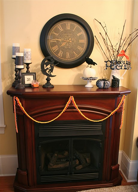50 awesome halloween decorating ideas wood fireplace and