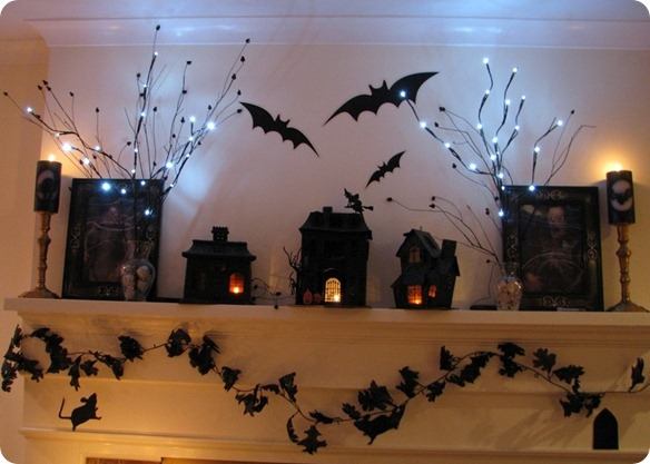 50 awesome halloween decorating ideas fireplace with dark. Black Bedroom Furniture Sets. Home Design Ideas