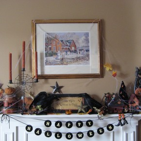 50 Awesome Halloween Decorating Ideas Fireplace with Frame and Brown Candle