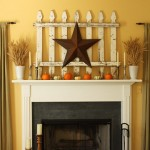 50 Awesome Halloween Decorating Ideas Simple Star Fireplace