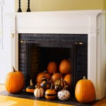 50 Awesome Halloween Decorating Ideas Fireplace Pile of pumpkins