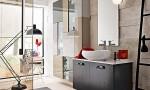 Amazing Bathroom Ideas Black Cabinet Full Glass