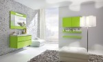 Amazing Bathroom Ideas Green Cabinet Bright Lighting