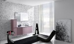 Amazing Bathroom Ideas White Floral Wall Window
