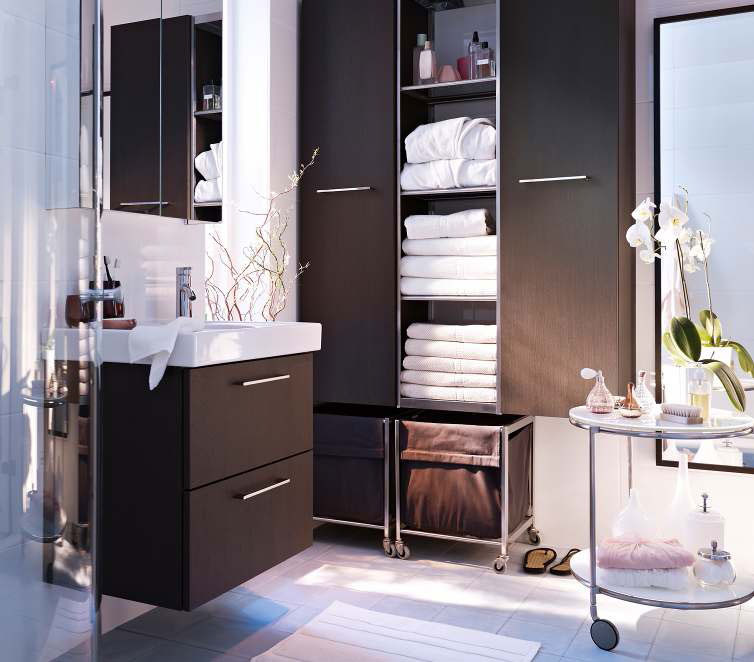 Bathroom Design Ideas 2012 by IKEA Cabinet Clean Fresh