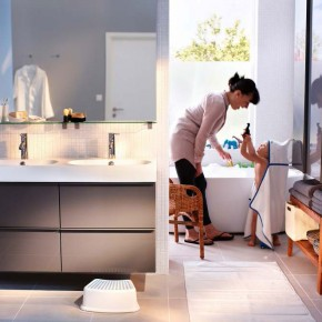 Bathroom Design Ideas 2012 by IKEA Clean and White Wall big Window