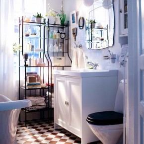 Bathroom Design Ideas 2012 by IKEA Simple White Wall Cool Floor
