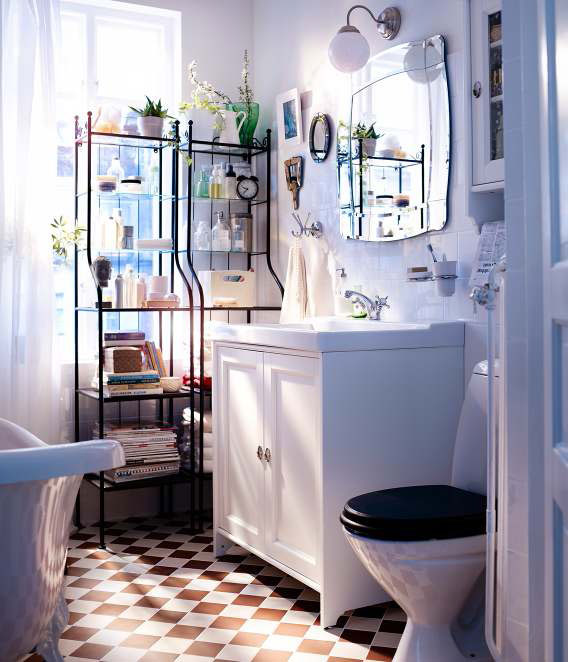 Bathroom design ideas 2012 by ikea simple white wall cool for Bathroom decor 2012