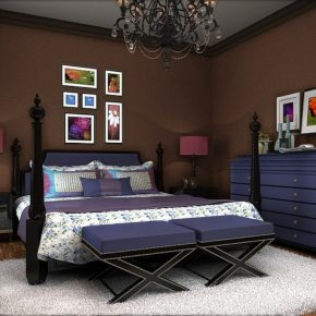 20 bold interior color schemes for bedrooms interior for Brown and purple bedroom ideas