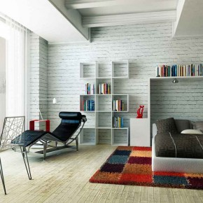 Big Glass White Wall decal and Cool Bookcase - Amazing Colorful Bedrooms