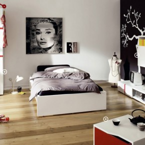 Black White Cool and Trendy Teen Room Design Ideas