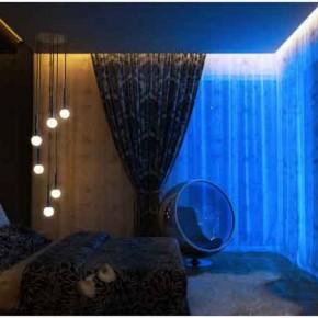 Blue Backlight on Plasterboard new Sensation room - Amazing Colorful Bedrooms