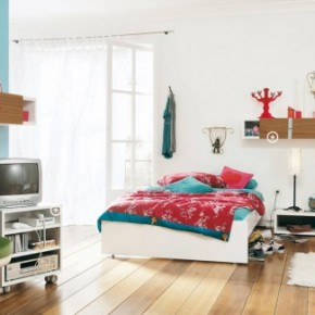 Blue Bright Cool and Trendy Teen Room Design Ideas