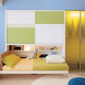 Blue Simple Teen Rooms with Small Space