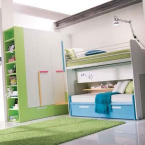 Blue-and-Green-With-Bunk-Bed-Teen-Girls-Bedroom