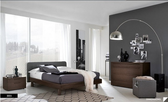 Modern Black House Bright Accents Bright Beautiful Modern Style Bedroom Designs Dark Grey And White Wall