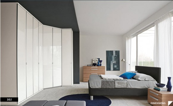 Bright Beautiful Modern Style Bedroom Designs White