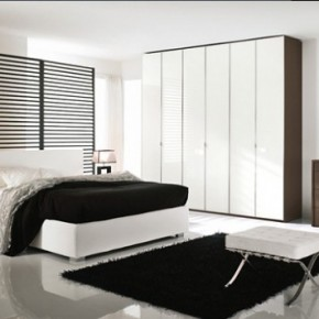 Bright Beautiful Modern Style Bedroom Designs White Wall Black Carpet