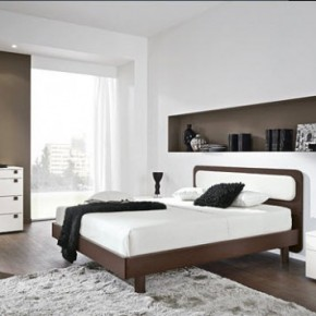 Bright Beautiful Modern Style Bedroom Designs White Wall Blended fresh Brown