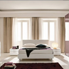 Bright Beautiful Modern Style Bedroom Designs White Wall and Wall Glass