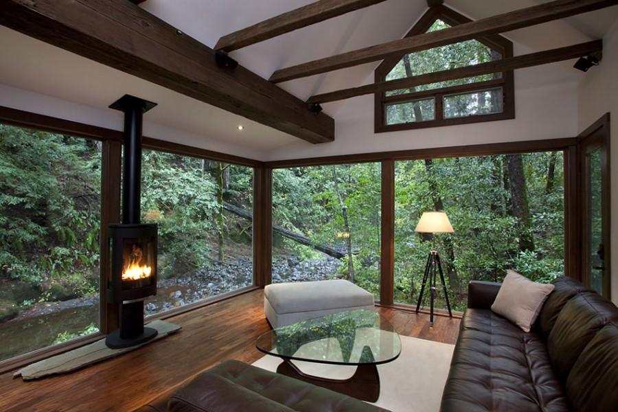 Cabin In The Woods Interior Design Center Inspiration