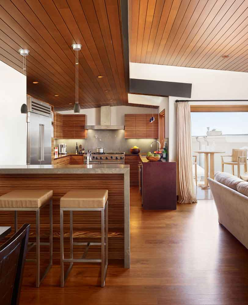 Careful Space Planning Tropical House Garage View: Careful Space Planning Tropical House Bar With A Kitchen