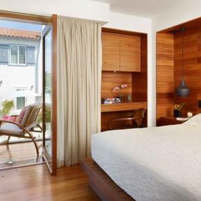 Careful Space Planning Tropical House Bedroom Door View