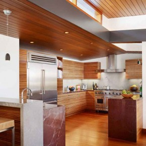 Careful Space Planning Tropical House Clean Kitchen