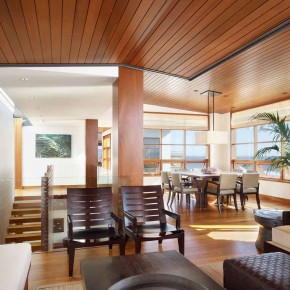 Careful Space Planning Tropical House Dining Room