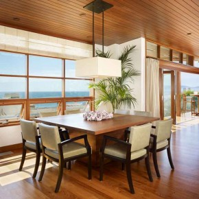 Careful Space Planning Tropical House Dining Table