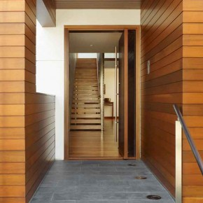 Careful Space Planning Tropical House Entrance
