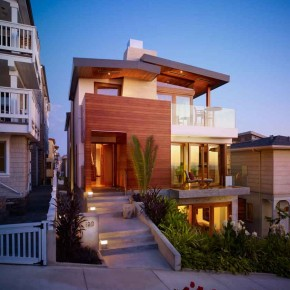 Careful Space Planning Tropical House Front House View