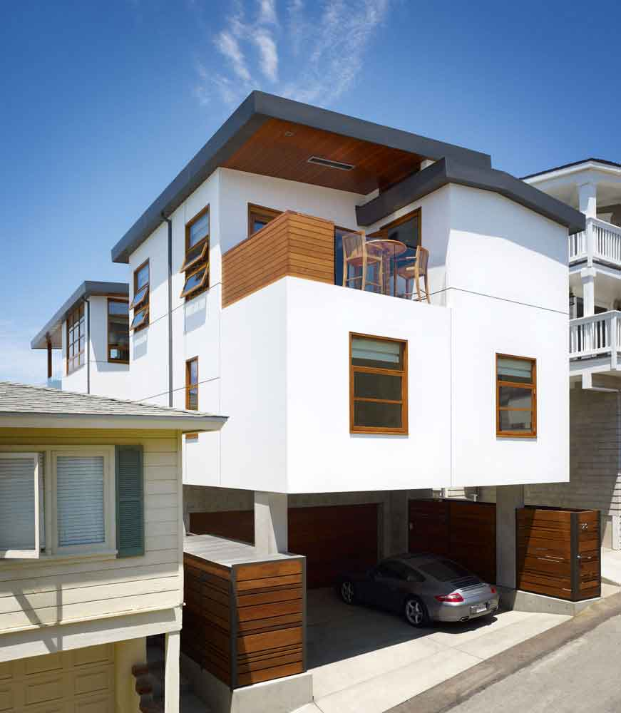 Home Design Ideas For Small Houses: Careful Space Planning Tropical House Garage View